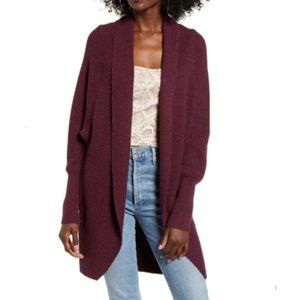 Leith Women Dolman Long Sleeve Open Cardigan Soft